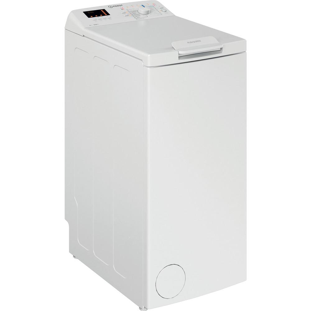 Indesit Tvättmaskin Fristående BTW S6230P EU/N White Top loader A+++ Perspective