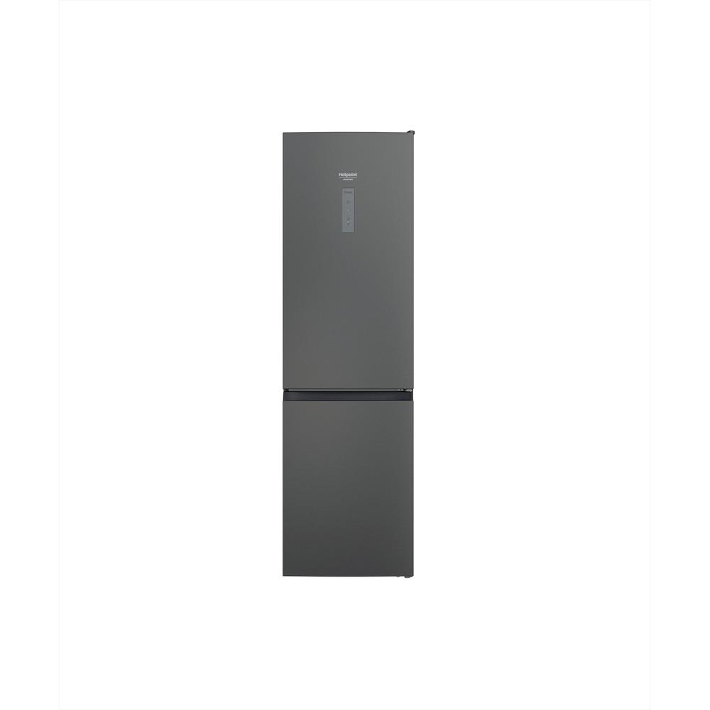 Hotpoint_Ariston Külmik-sügavkülmikud Vabaltseisev HAFC9 TO32SK Hõbedane must 2 doors Frontal