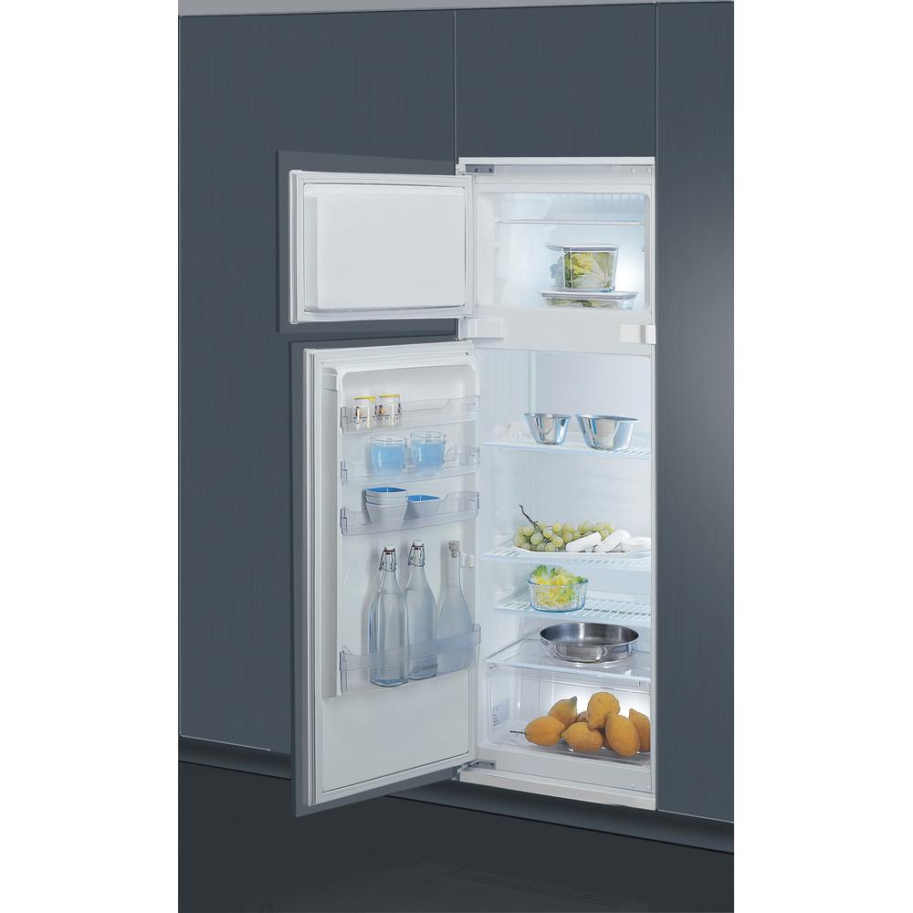 Indesit Combinazione Frigorifero/Congelatore Da incasso T 16 A1 D S/I Acciaio 2 porte Lifestyle perspective open
