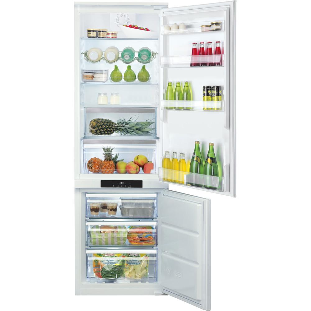 Hotpoint_Ariston Combinazione Frigorifero/Congelatore Da incasso BCB 7030 AA F C O3 Bianco 2 porte Frontal open