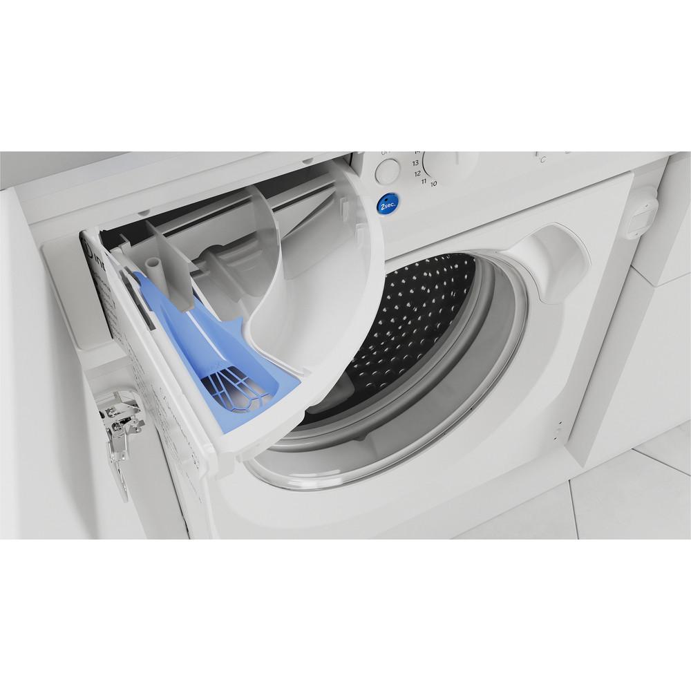 Indesit Washer dryer Built-in BI WDIL 861284 UK White Front loader Drawer