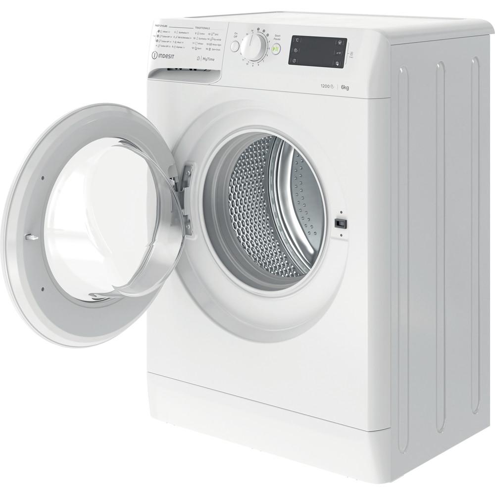 Indsit Maşină de spălat rufe Independent MTWSE 61252 W EE Alb Încărcare frontală A +++ Perspective open