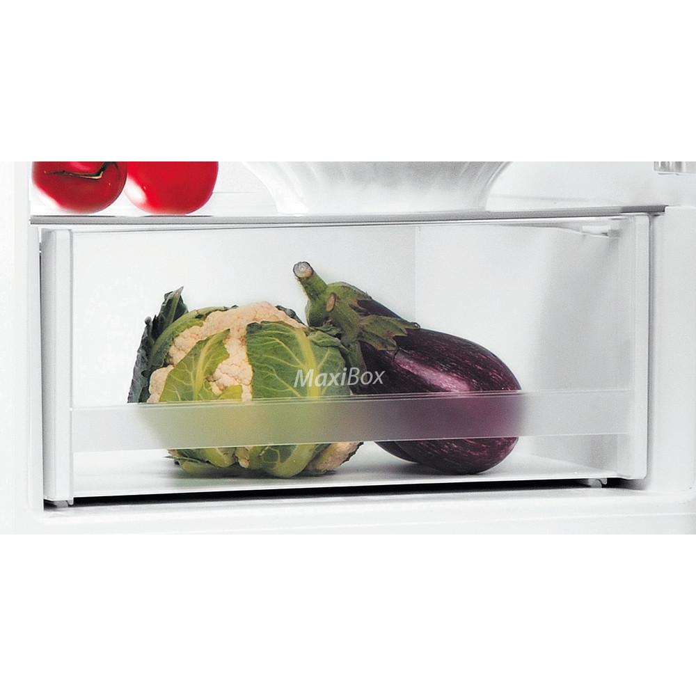 Indesit Réfrigérateur combiné Pose-libre LI6 S1E W Blanc 2 portes Drawer