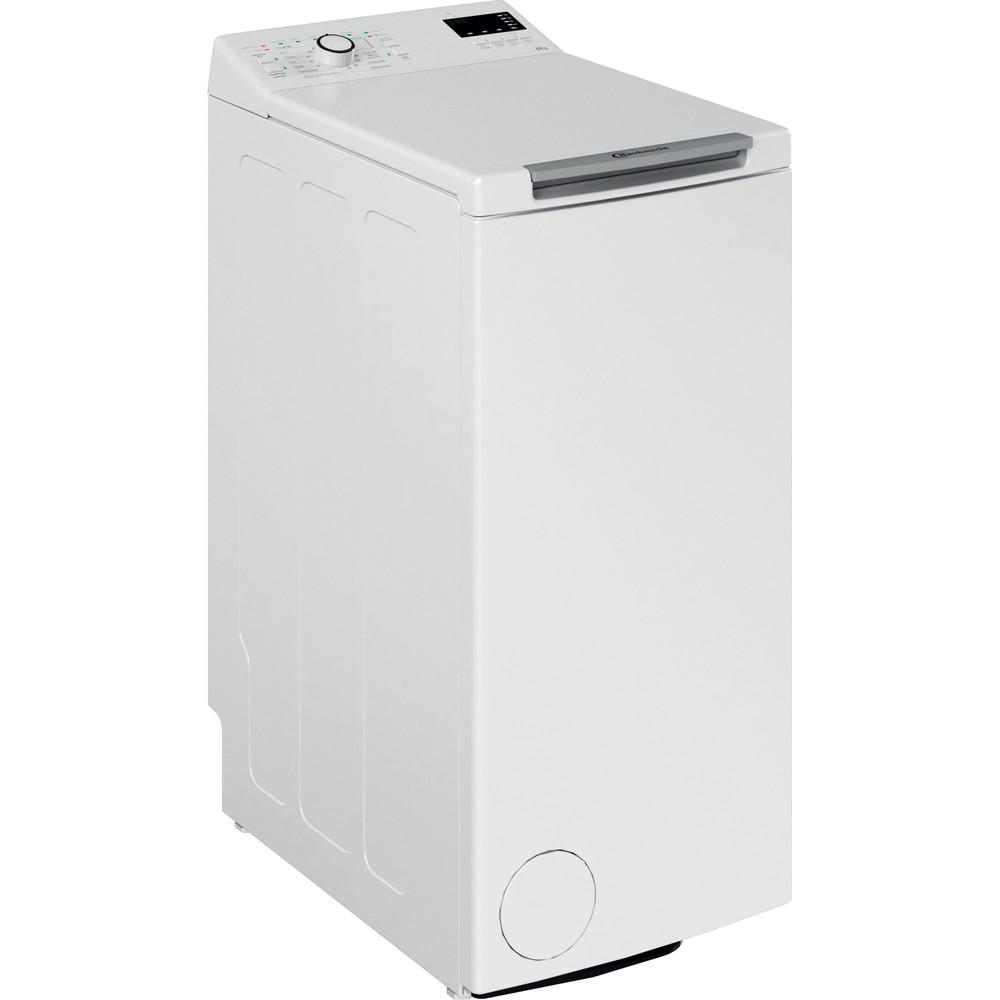 Bauknecht Waschmaschine Standgerät WAT Eco 612 N Weiss Toplader D Perspective