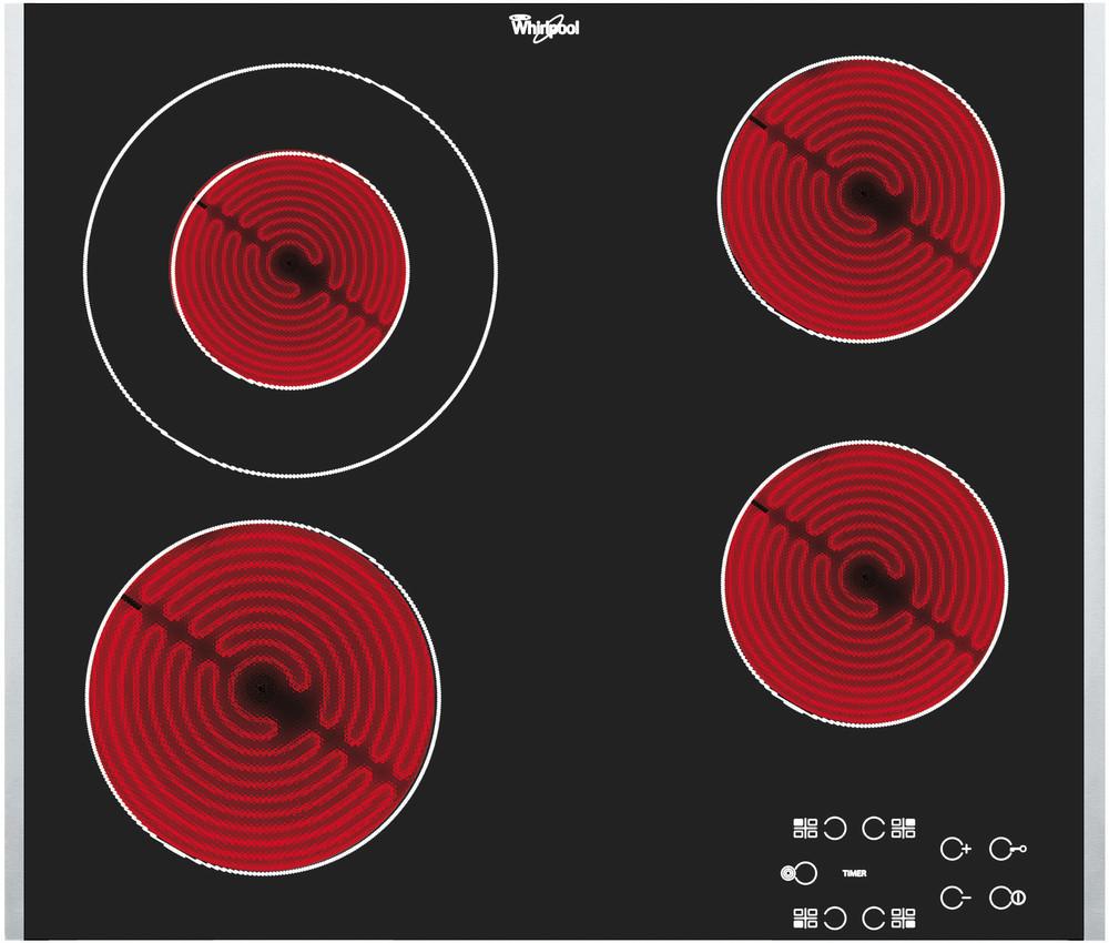 Whirlpool Liesitaso AKT 8130 BA Musta Radiant vitroceramic Frontal