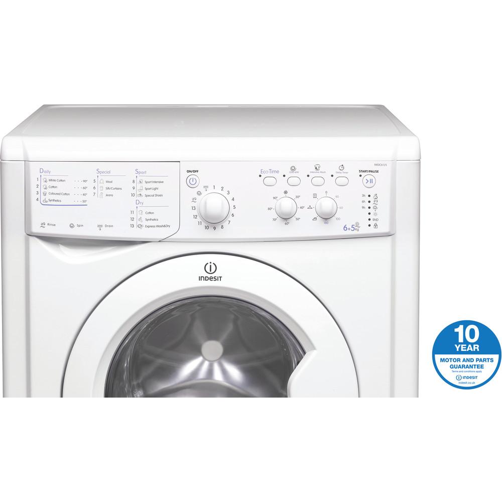 Indesit Washer dryer Free-standing IWDC 6125 (UK) White Front loader Award