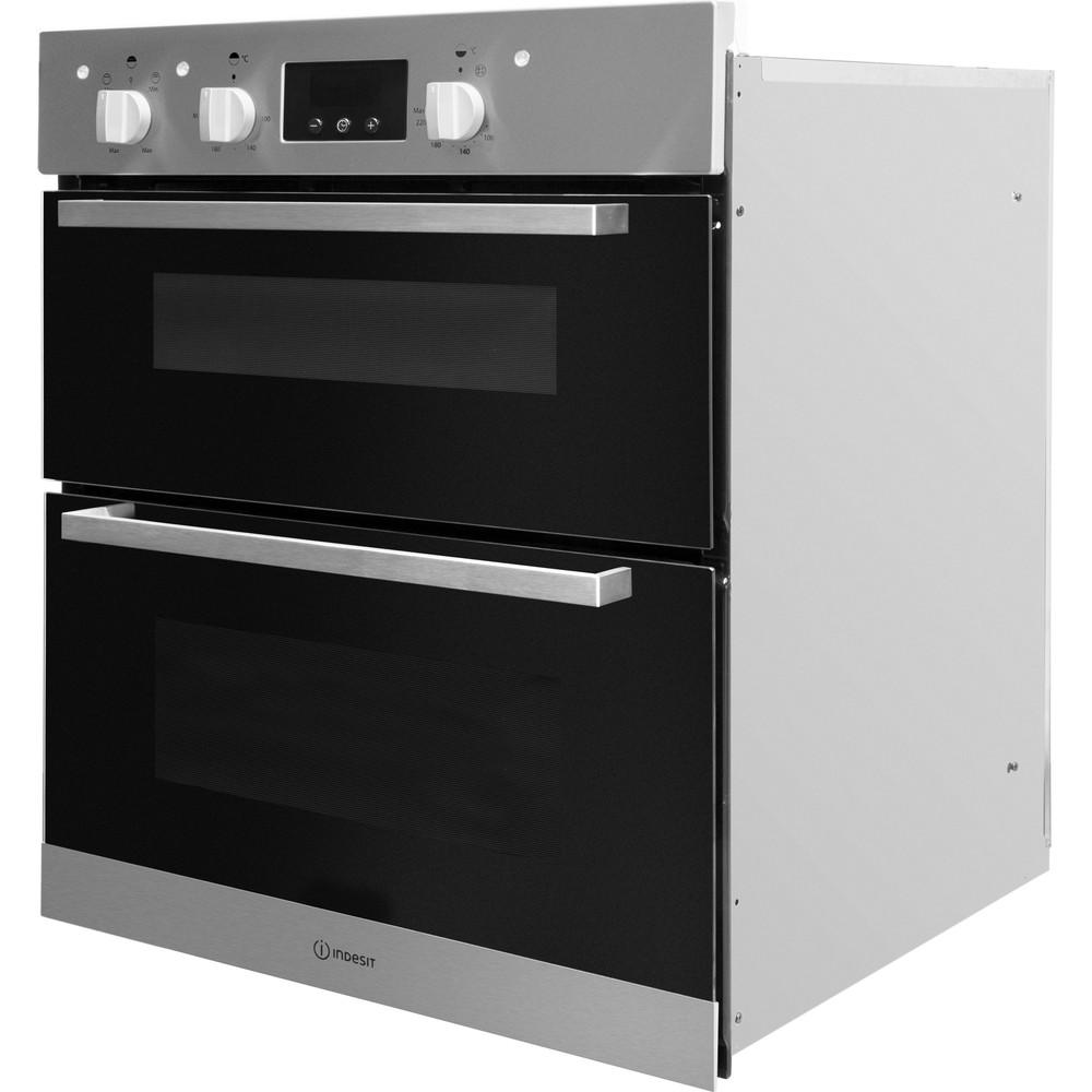 Indesit Double oven IDU 6340 IX Inox B Perspective