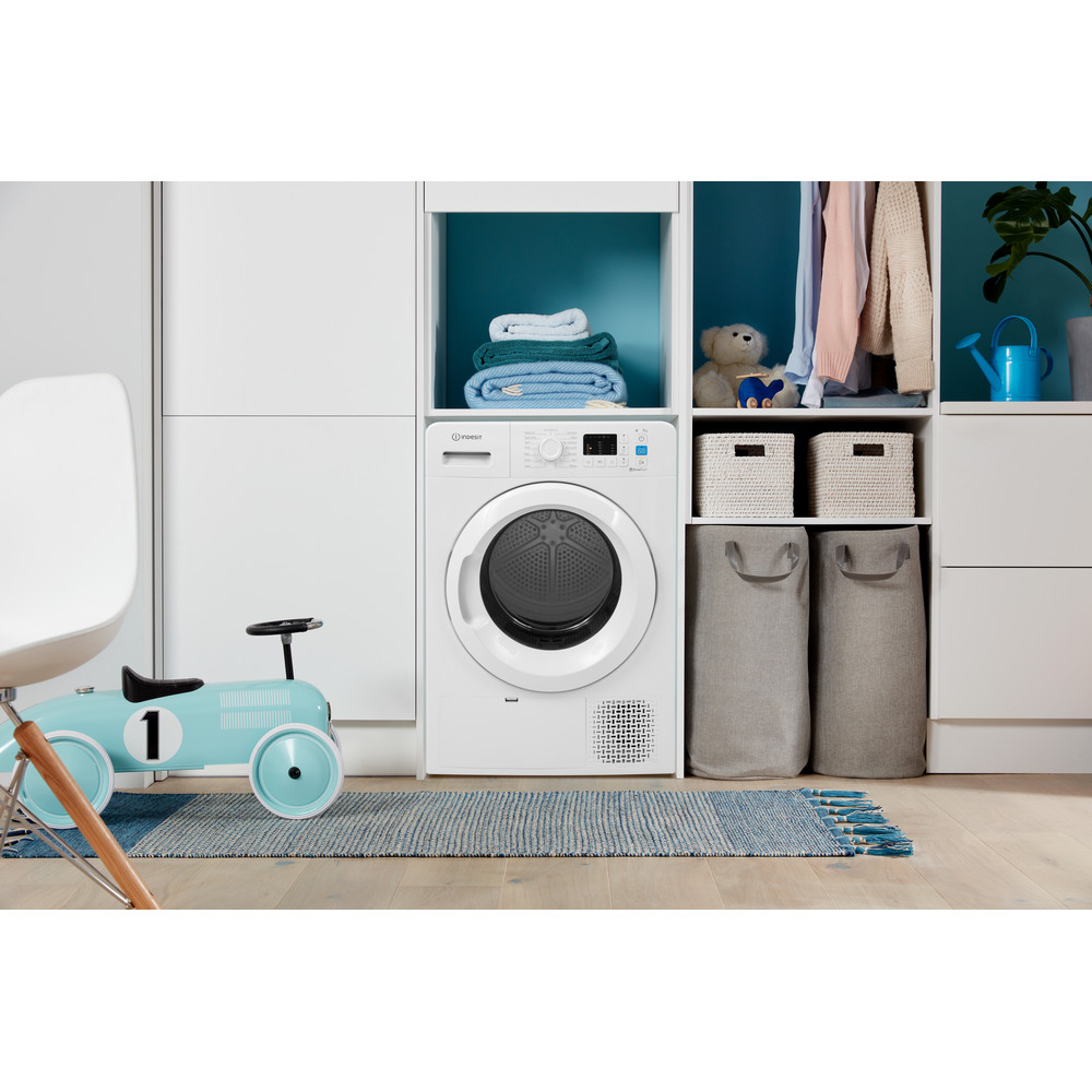 Indesit Dryer YT M10 71 R UK White Lifestyle frontal