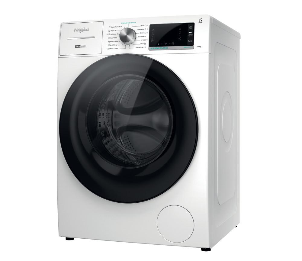 Whirlpool Перална машина Свободностоящи W8 W046WB EE Бял Предно зареждане A Perspective