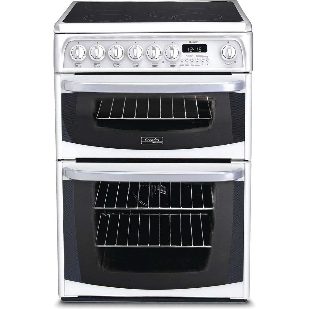 Hotpoint Double Cooker CH60EKW S White A Vitroceramic Frontal