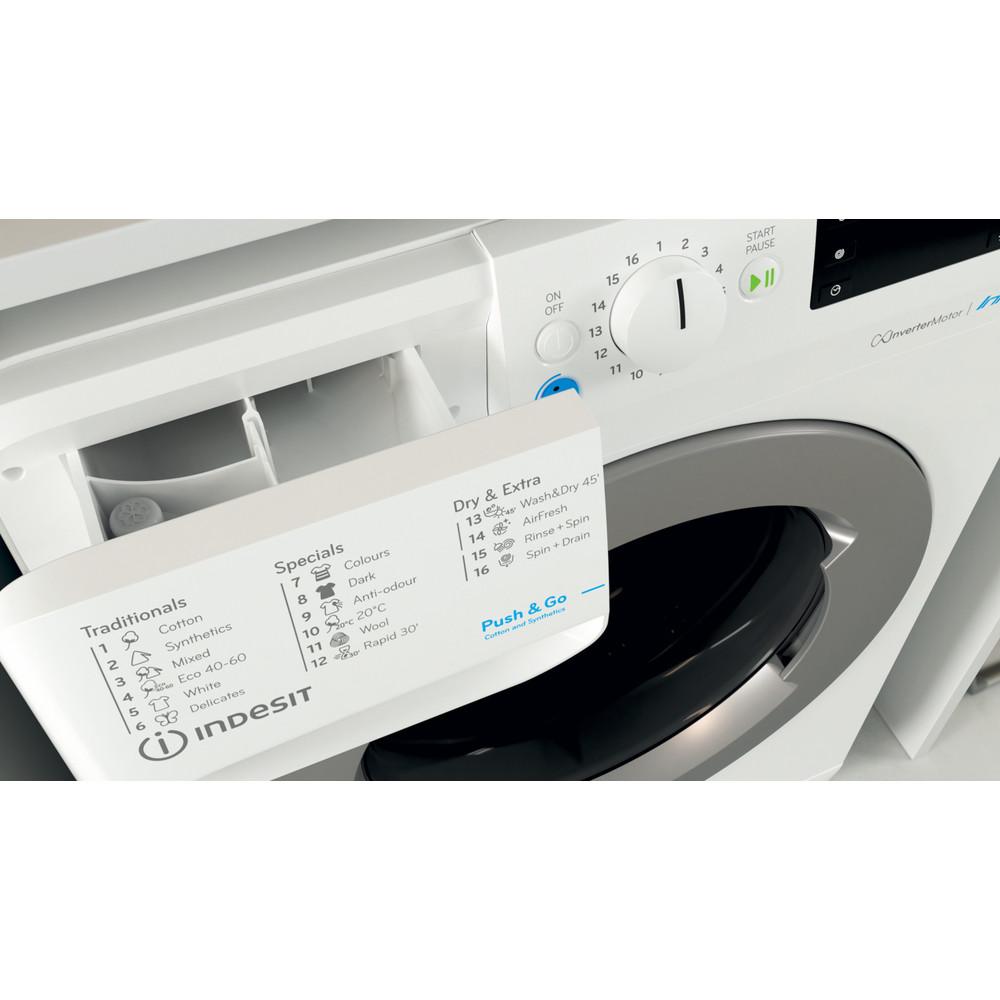 Indesit Πλυντήριο-στεγνωτήριο Ελεύθερο BDE 1071682X WS EE N Λευκό Front loader Drawer
