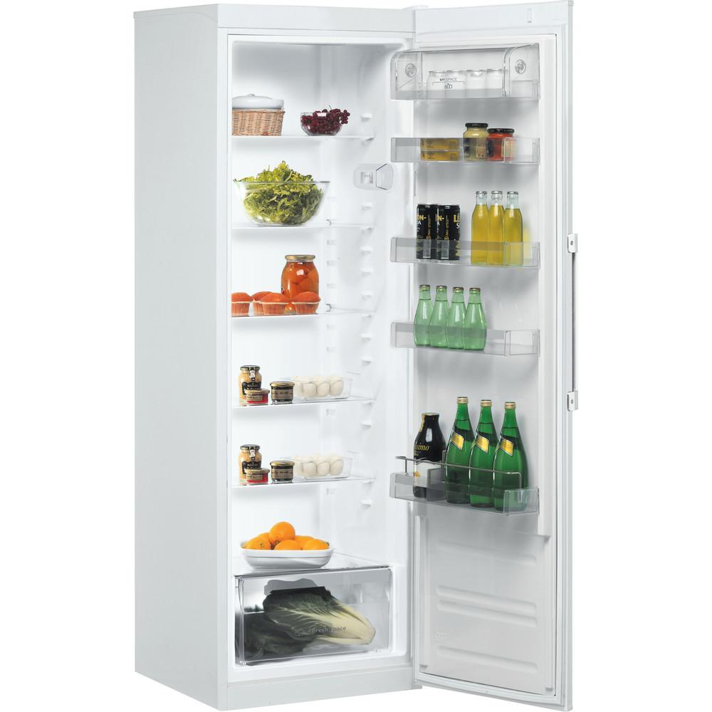 Indesit Réfrigérateur Pose-libre SI8 1Q WD Blanc Perspective open