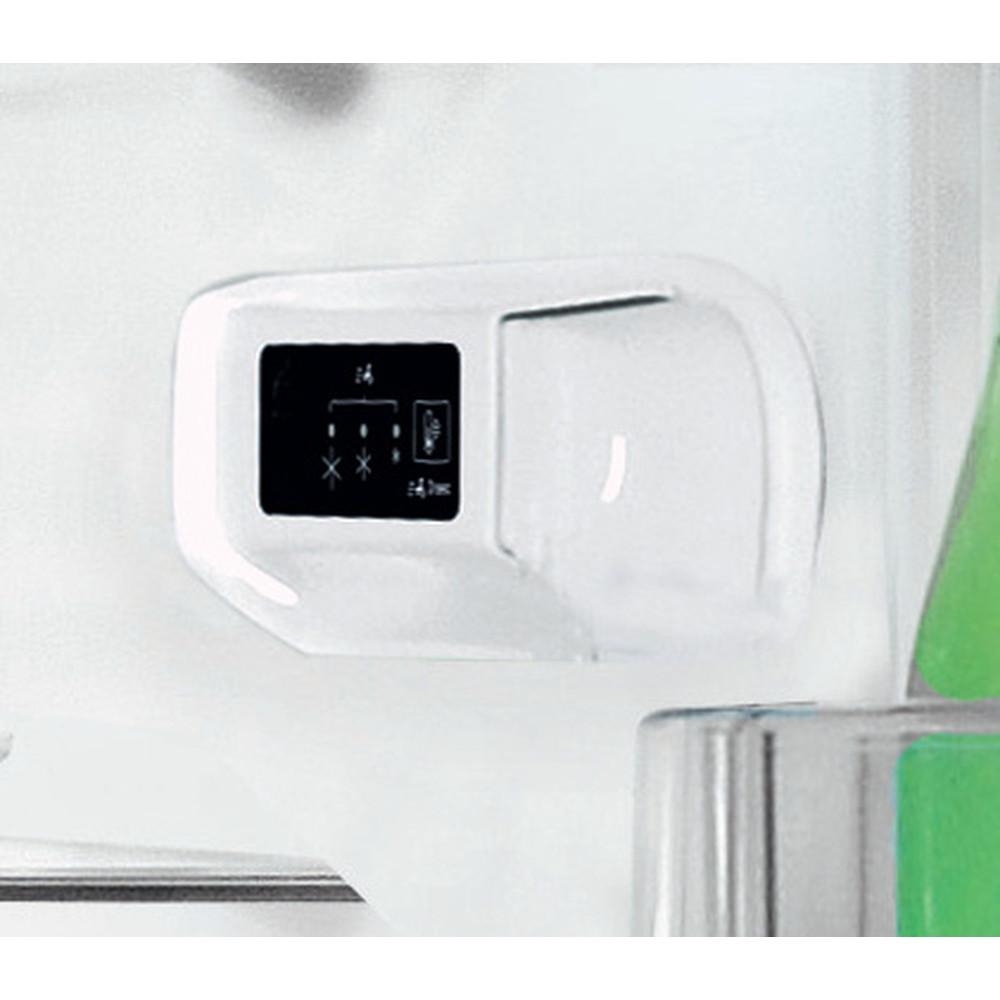 Indesit Külmik-sügavkülmik Eraldiseisev LI6 S1E X Roostevaba teras 2 doors Control panel