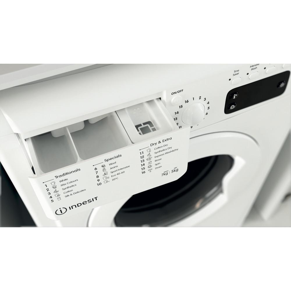 Indesit Washer dryer Free-standing IWDD 75125 UK N White Front loader Drawer