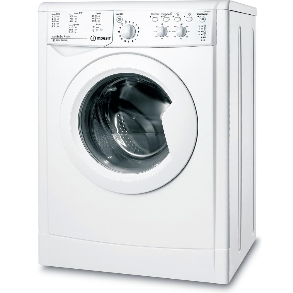 Indesit Pračka Volně stojící IWSC 51051 C ECO EU Bílá Front loader A+ Perspective