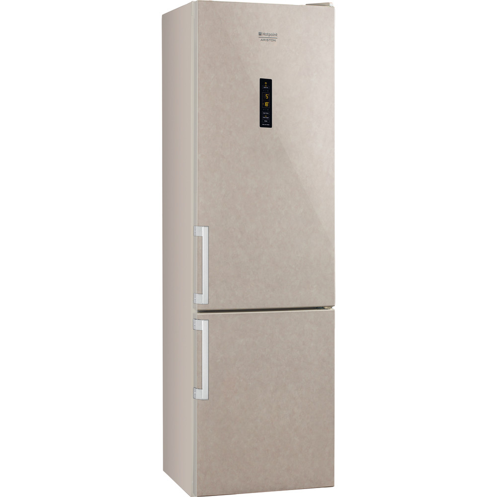 Hotpoint_Ariston Комбинированные холодильники Отдельностоящий HFP 8202 MOS Мраморный 2 doors Perspective
