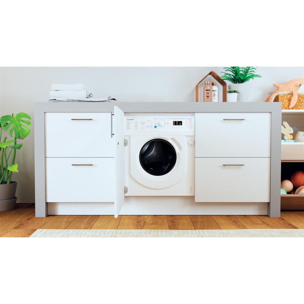 Indesit Lavadora secadora Encastre BI WDIL 751251 EU N Blanco Cargador frontal Lifestyle frontal