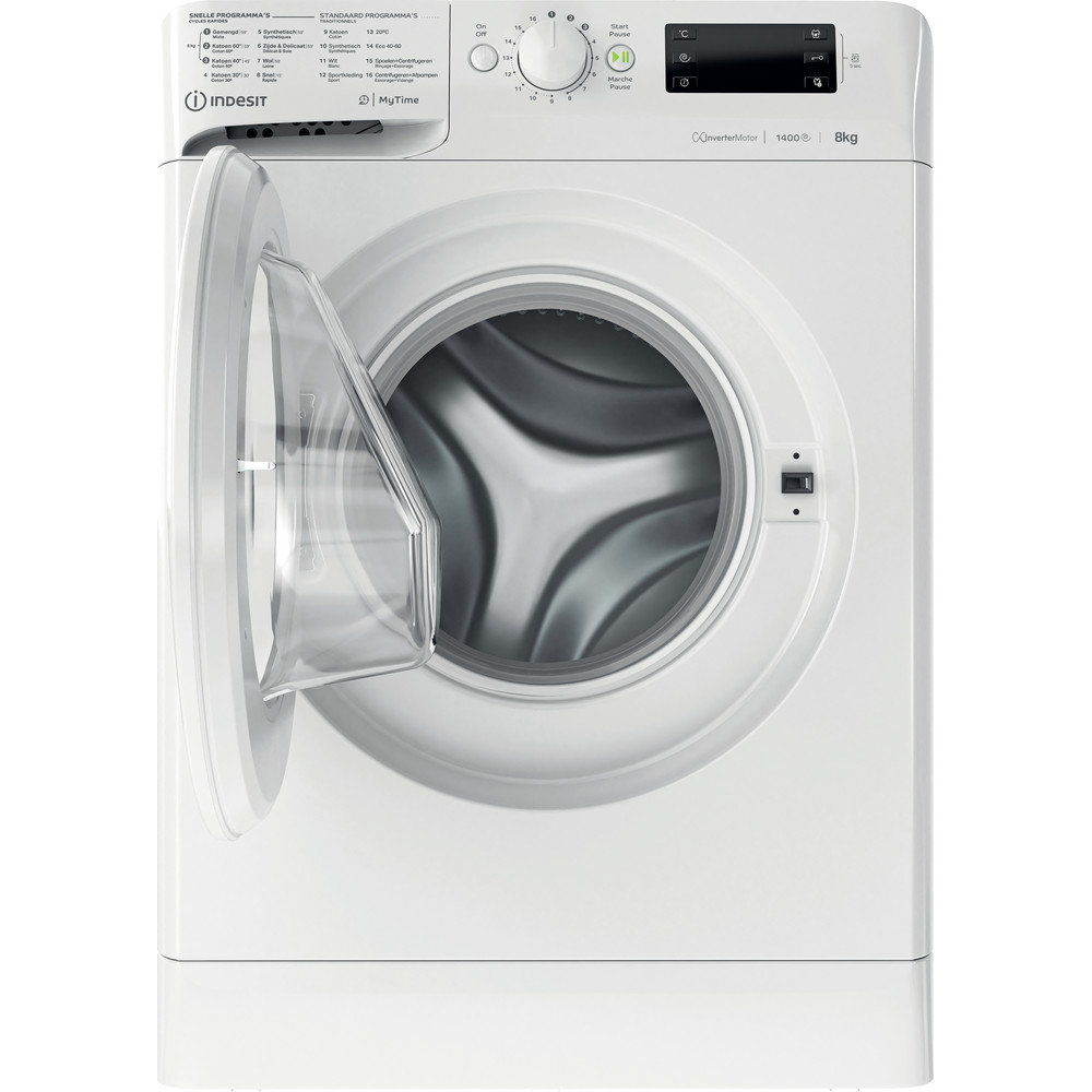 Indesit Lave-linge Pose-libre MTWE 81483 W BE Blanc Frontal D Frontal open