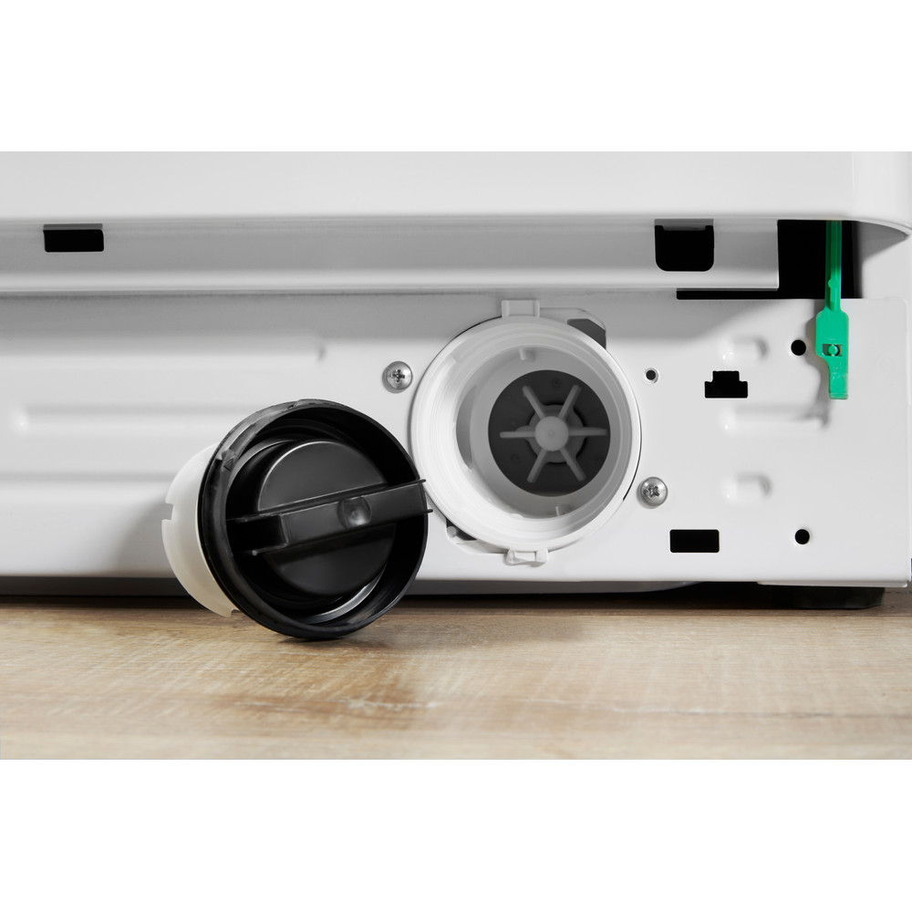 Indesit Lavasciugabiancheria A libera installazione IWDE 7125 B (EU) Bianco Carica frontale Filter