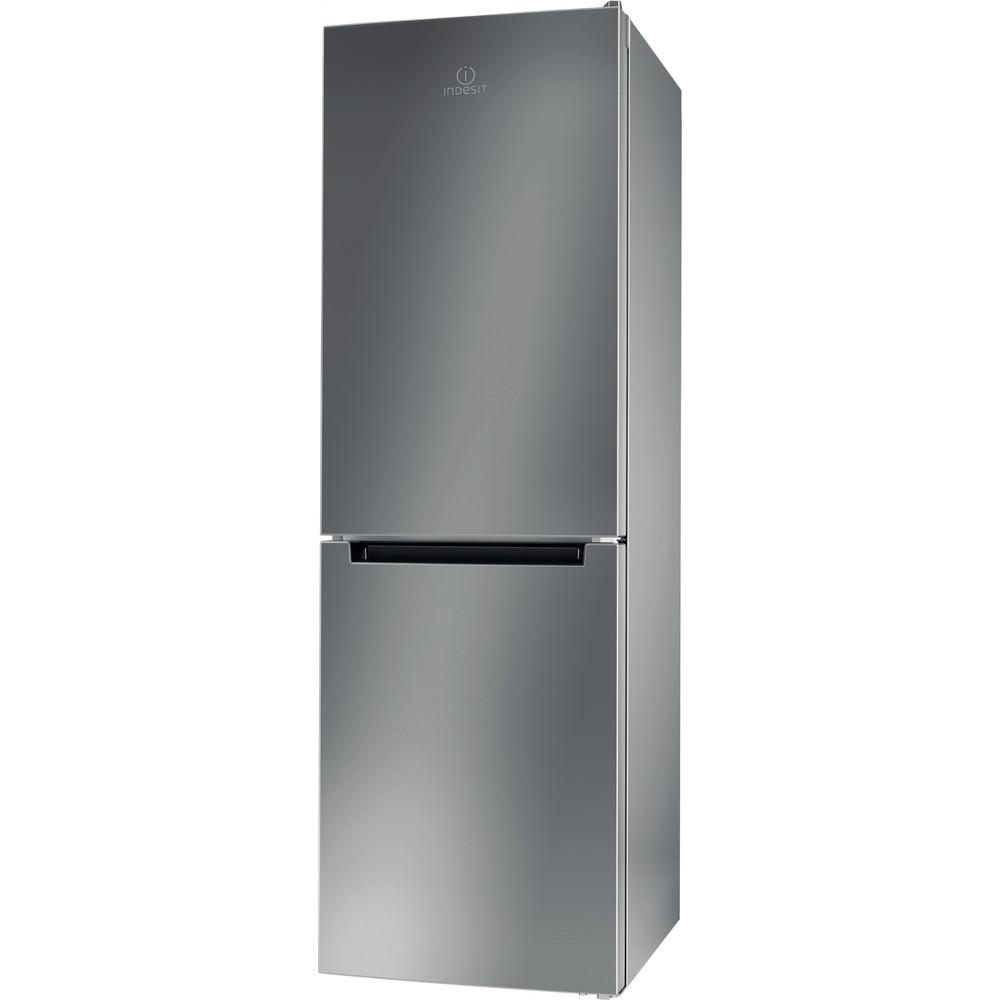 Indesit Combinación de frigorífico / congelador Libre instalación LI8 SN2E X Plata 2 doors Perspective