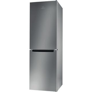 Indesit Réfrigérateur combiné Pose-libre LI8 SN2E X Argent 2 portes Perspective