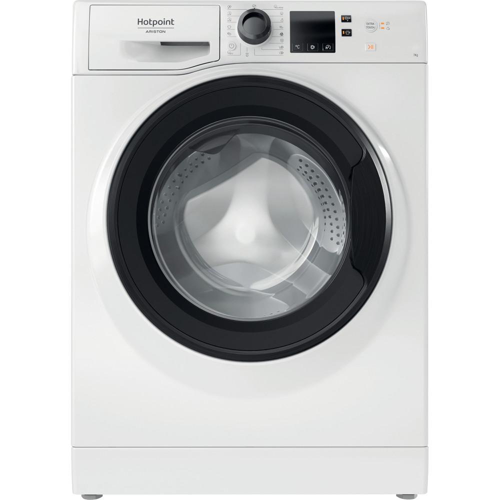 Hotpoint_Ariston Maşină de spălat rufe Neincorporabil NS722U WK EU N Alb Încărcare frontală E Frontal