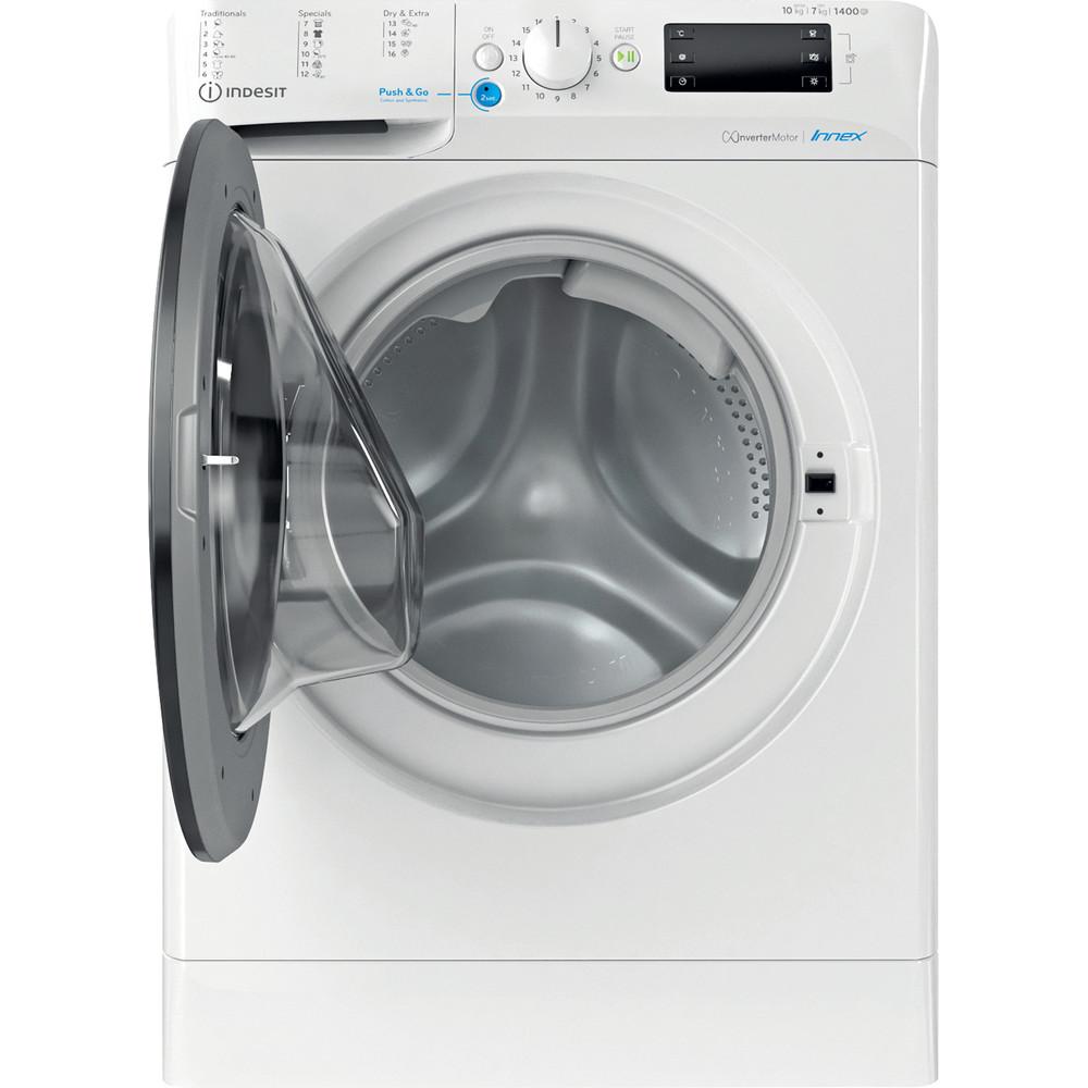 Indesit Kombineret vaskemaskine/tørretumbler Fritstående BDE 1071482X WK EU N Hvid Frontbetjent Frontal open
