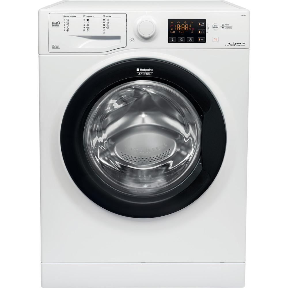 Hotpoint_Ariston Maşină de spălat rufe Neincorporabil RSG 744 JK EU Alb Încărcare frontală A +++ Frontal