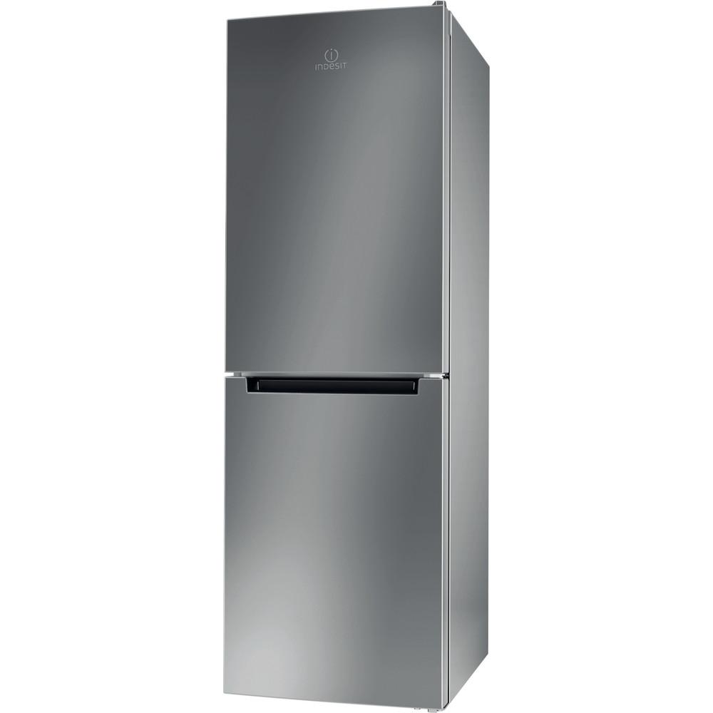 Indesit Kombinovaná chladnička s mrazničkou Voľne stojace LI7 SN1E X Nerezová 2 doors Perspective