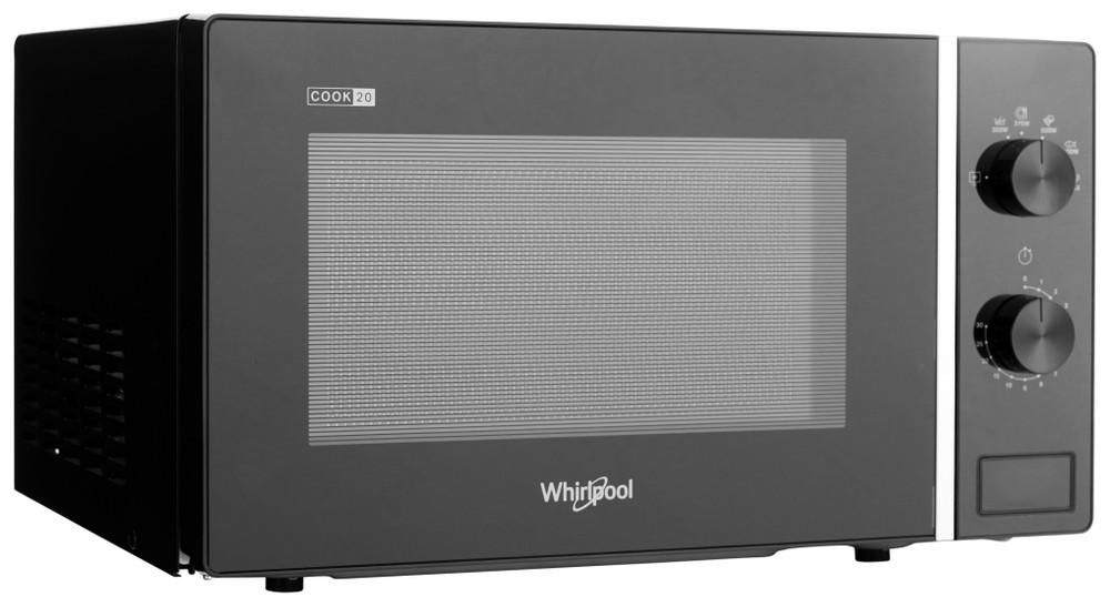 Whirlpool Mikroaaltouuni Vapaasti sijoitettava MWP 101 B Musta Mekaaninen 20 Vain mikroaaltotoiminnot 700 Perspective