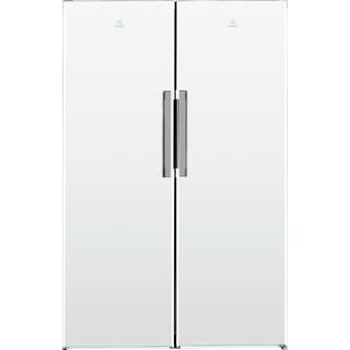Vapaasti sijoitettava Indesit-jääkaappi: Valkoinen.