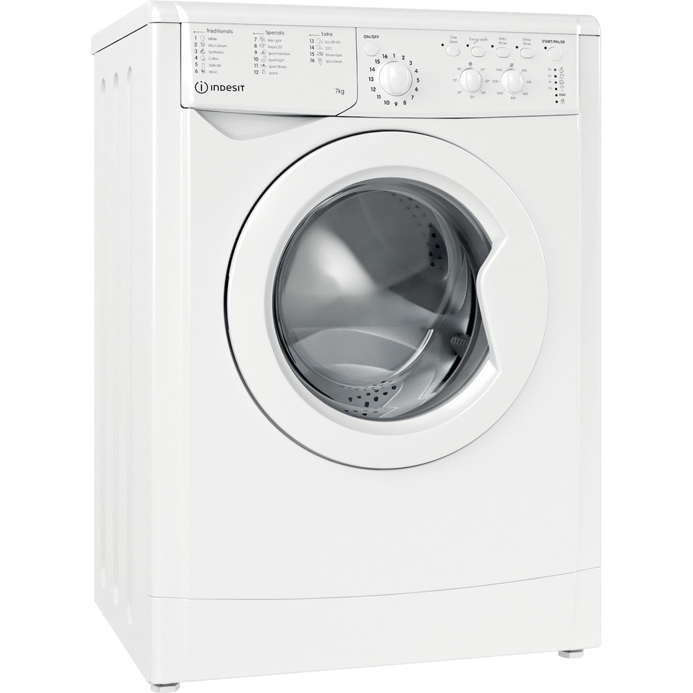 Indesit Washing machine Free-standing IWC 71452 W UK N White Front loader E Perspective