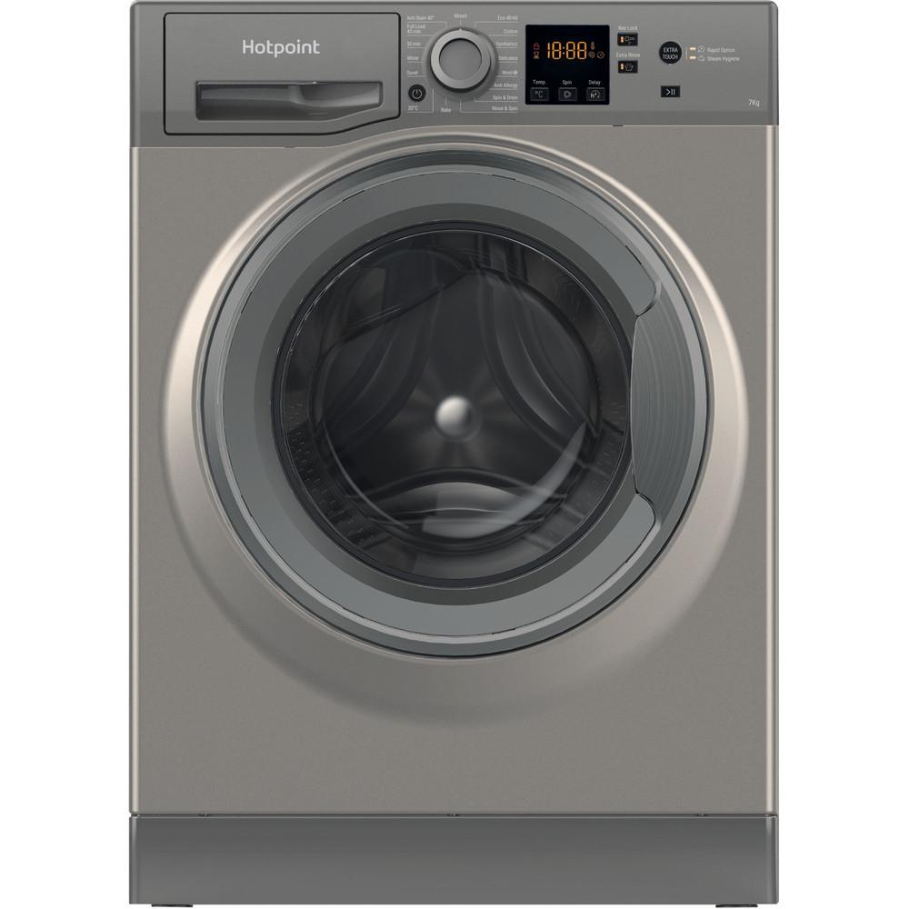 Hotpoint Washing machine Free-standing NSWF 742U GG UK N Graphite Front loader E Frontal