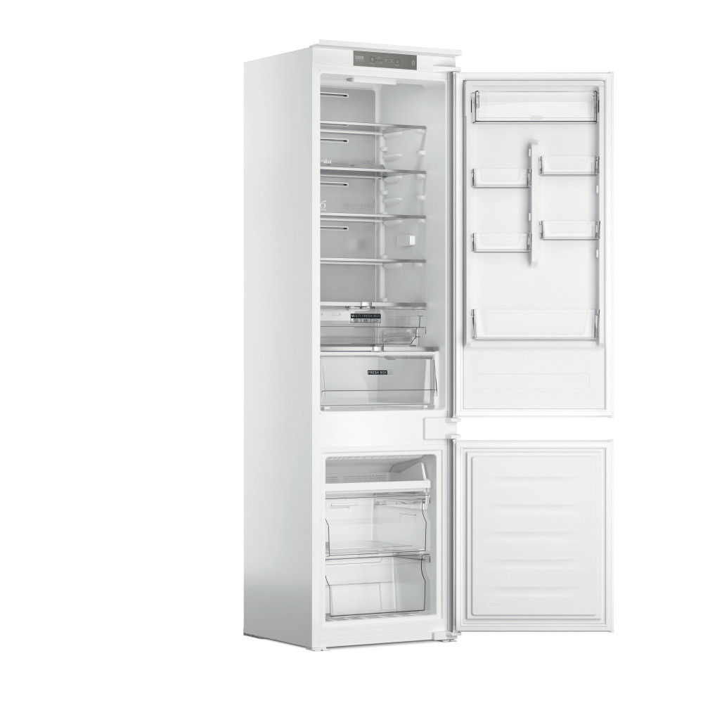 Whirlpool Fridge/freezer combination Vgradni WHC20 T352 Bela 2 doors Perspective open