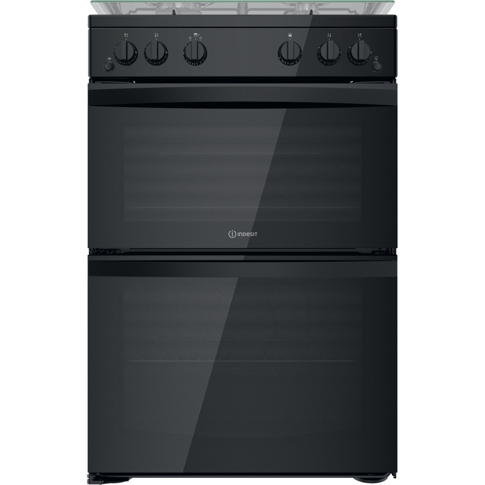 Indesit Double Cooker ID67G0MMB/UK Black A+ Frontal