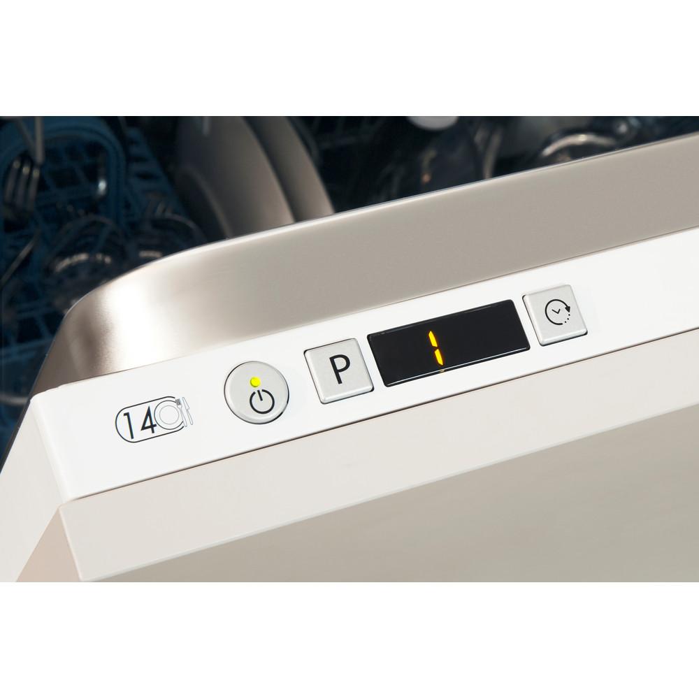 Indesit Vaatwasser Ingebouwd DIE 2B19 A Volledig geïntegreerd F Control panel