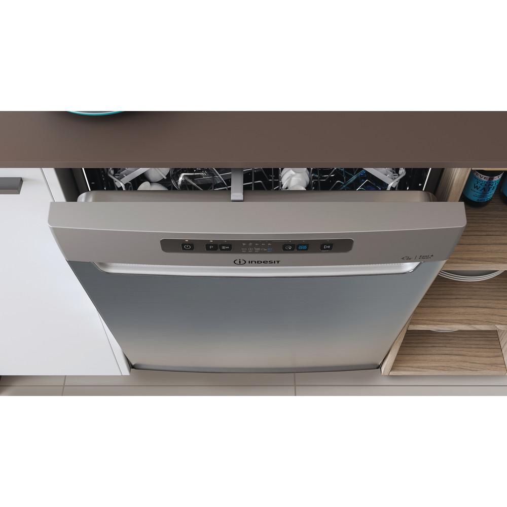 Indesit Astianpesukone Kalusteisiin sijoitettava DUC 2C24 AC X Työtason alle E Lifestyle control panel