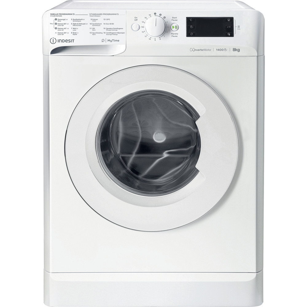 Indesit Lave-linge Pose-libre MTWE 81483 W BE Blanc Frontal D Frontal