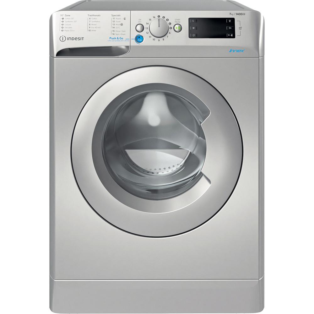 Indesit Washing machine Free-standing BWE 71452 S UK N Silver Front loader E Frontal