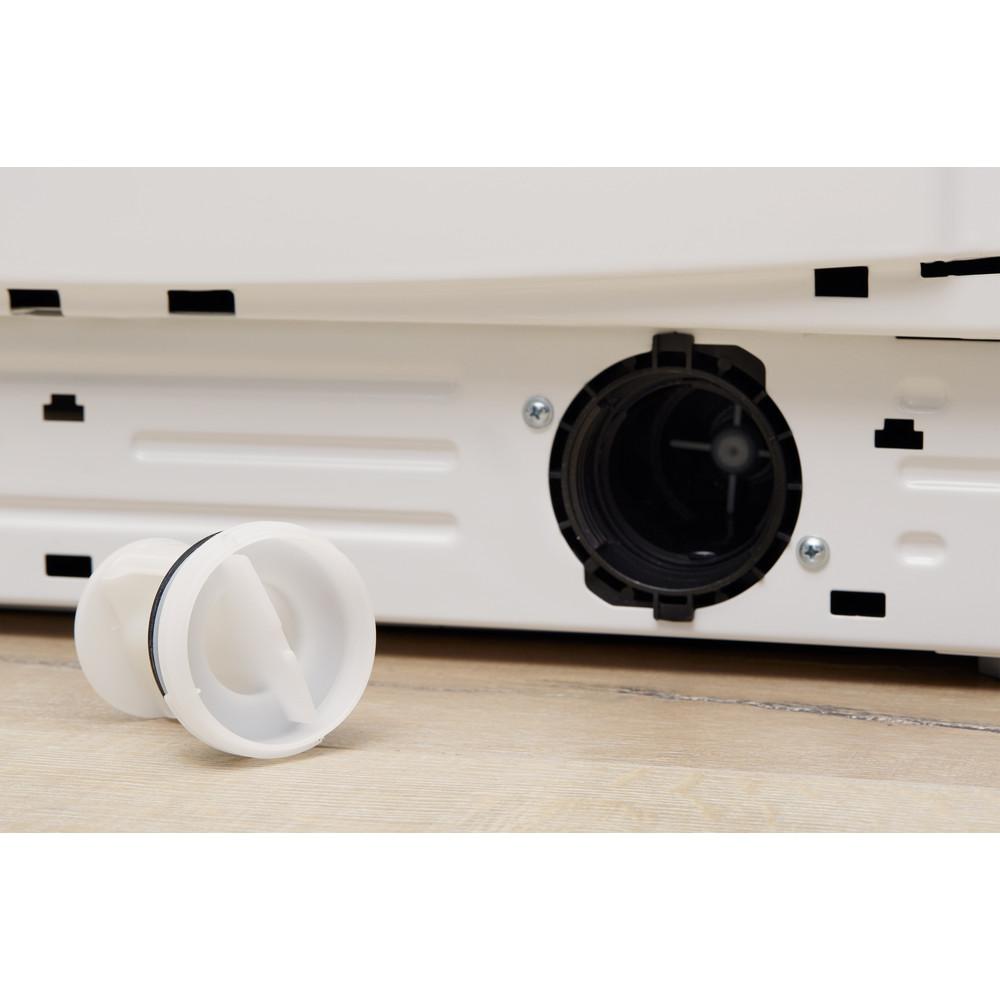 Indesit Vaskemaskin med tørketrommel Frittstående XWDE 1071481XWKKK EU Hvit Front loader Filter