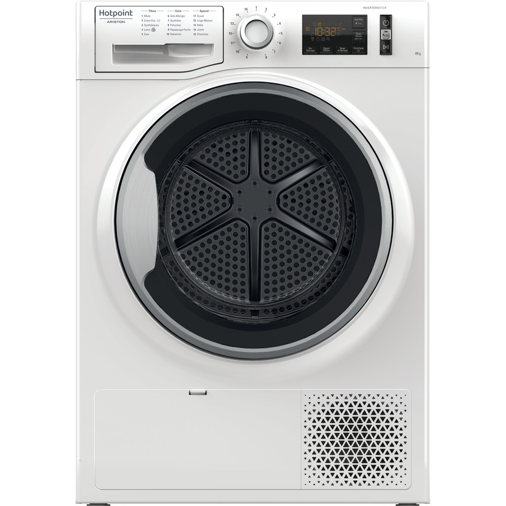 Hotpoint_Ariston Sèche-linge NT M11 82SK FR Blanc Frontal