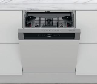 Whirlpool félig integrált mosogatógép: Inox szín, normál méretű - WBC 3C34 PF X