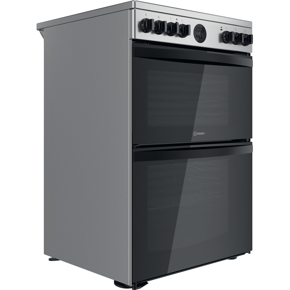 Indesit Double Cooker ID67V9HCX/UK Inox A Perspective