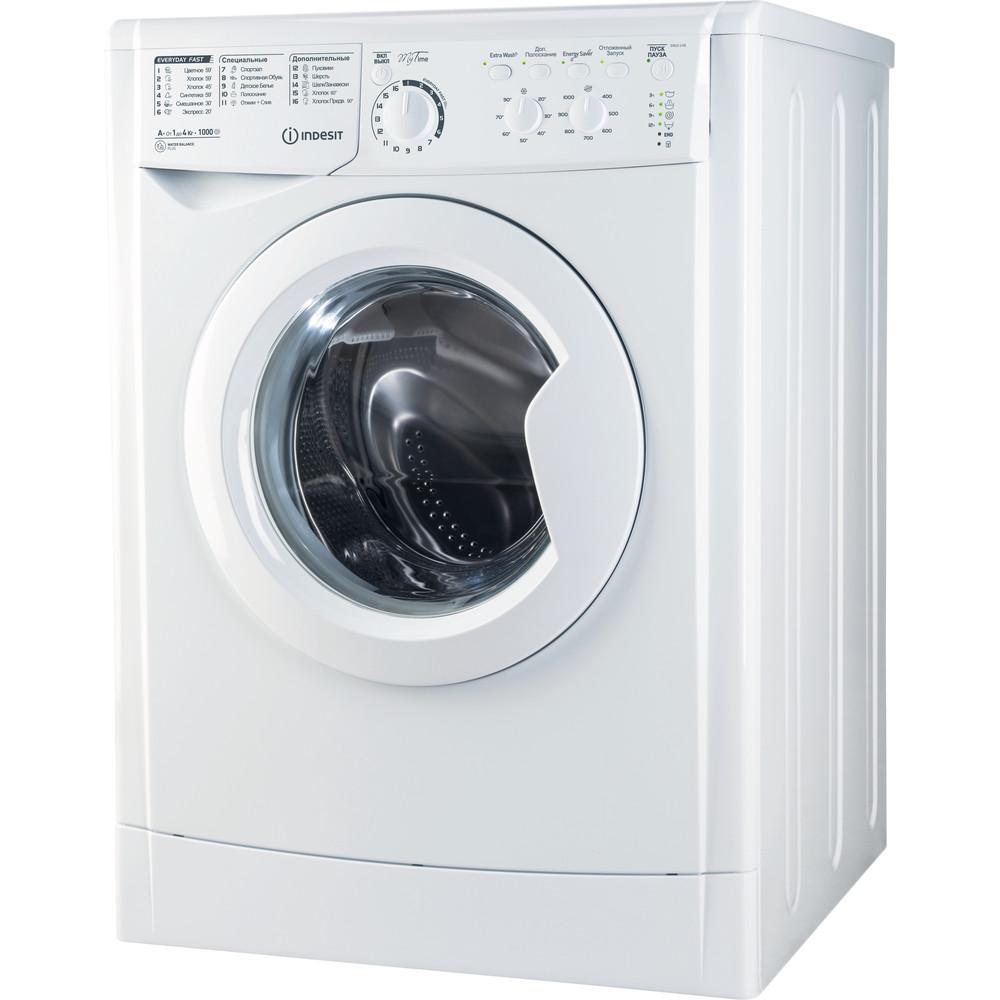Indesit Стиральная машина Отдельностоящий EWUC 4105 CIS Белый Фронтальная загрузка A Perspective