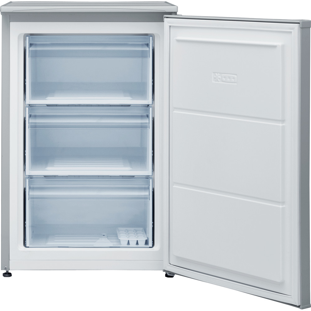 Indesit Freezer Free-standing I55ZM 1110 S 1 Silver Perspective open