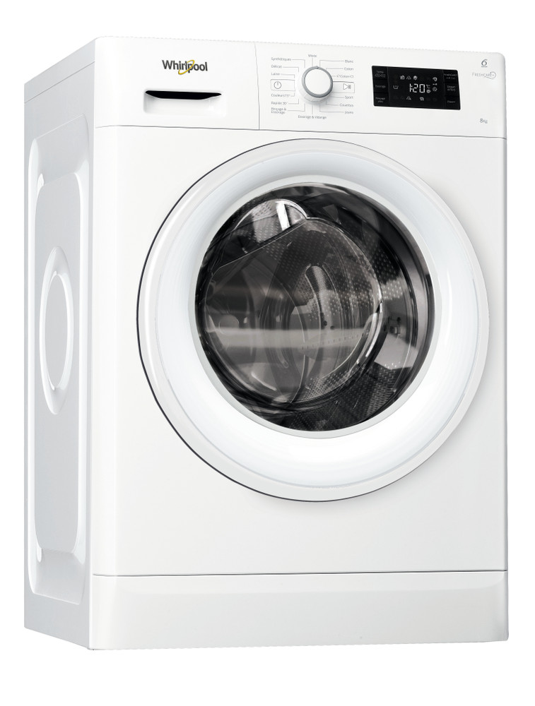 Whirlpool Lave-linge Pose-libre FWG81284W NA Blanc Front loader A+++ Perspective