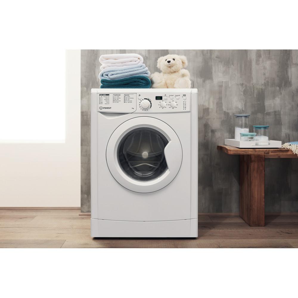 Indesit Washing machine Free-standing EWD 71452 W UK N White Front loader E Lifestyle frontal