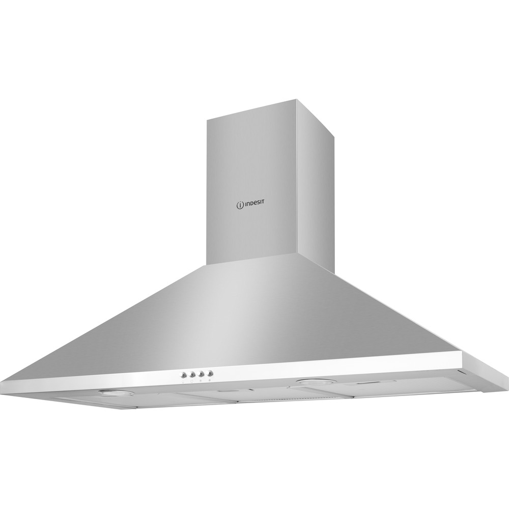 Indesit HOOD Built-in IHPC 9.5 LM X Inox Wall-mounted Mechanical Perspective