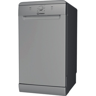 Indesit mašina za pranje posuđa: slim, srebrna boja
