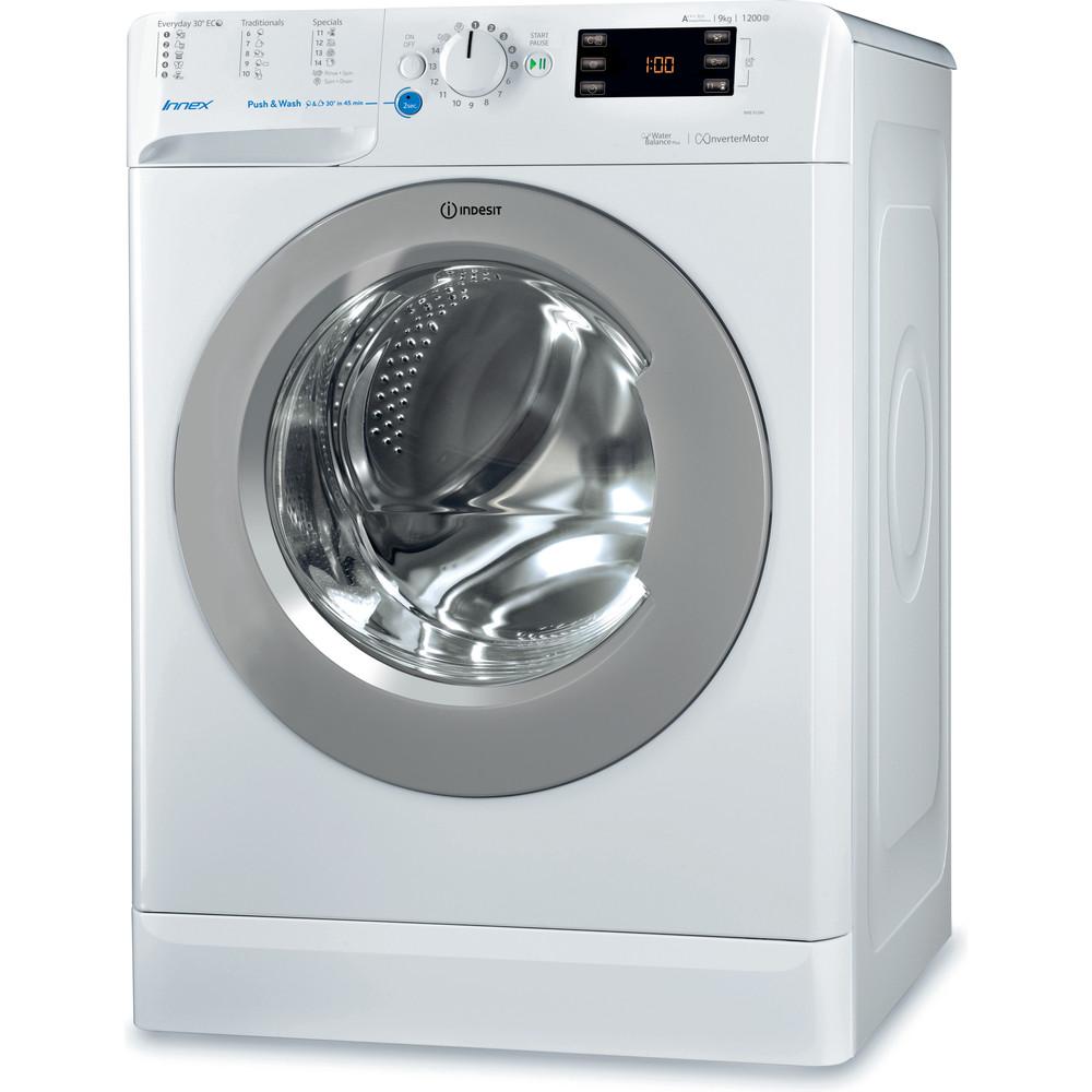 Indesit Máquina de lavar roupa Livre Instalação BWE 91284X WSSS EU Branco Carga Frontal A+++ Perspective
